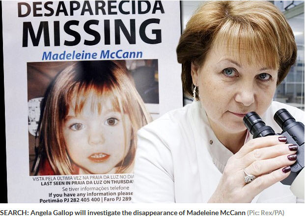 Truth will out: Forensic Scientist Angela Gallop would like to take on Madeleine McCann's cold case 159