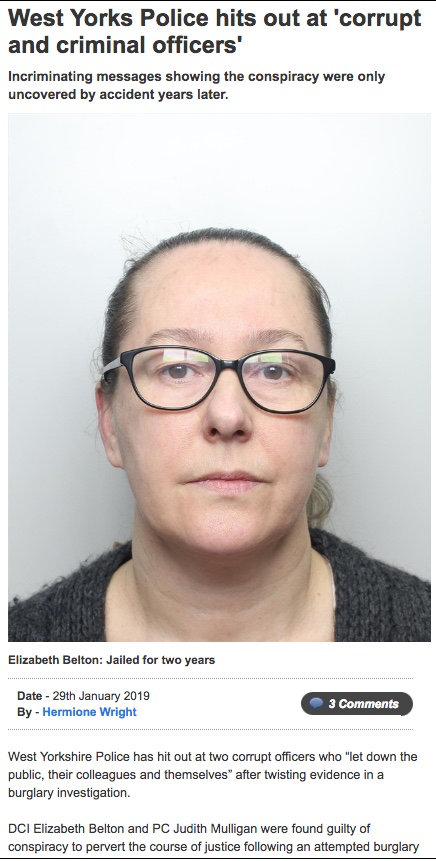 West Yorkshire DCI jailed for two years for conspiracy to pervert the course of justice 164