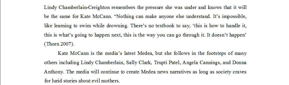 "Dr Nicola Goc: ""Bad Mummy""-  Kate McCann, Medea and the Media 1710"