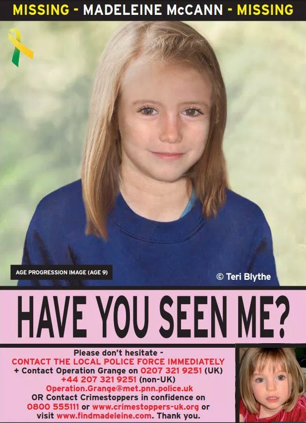 'DON'T GIVE UP' Brit tourists to take official Find Madeleine McCann posters on holiday this year as search for missing girl goes on 195