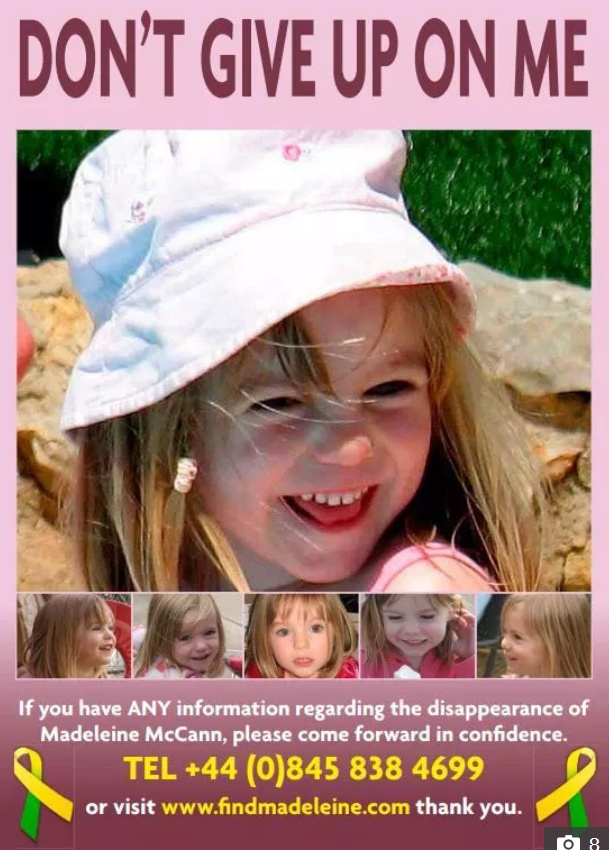 'DON'T GIVE UP' Brit tourists to take official Find Madeleine McCann posters on holiday this year as search for missing girl goes on 257