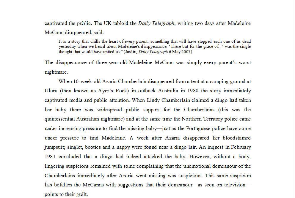 "Dr Nicola Goc: ""Bad Mummy""-  Kate McCann, Medea and the Media 313"