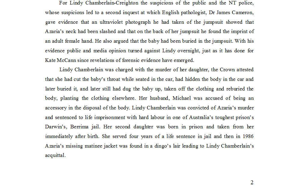 "Dr Nicola Goc: ""Bad Mummy""-  Kate McCann, Medea and the Media 413"