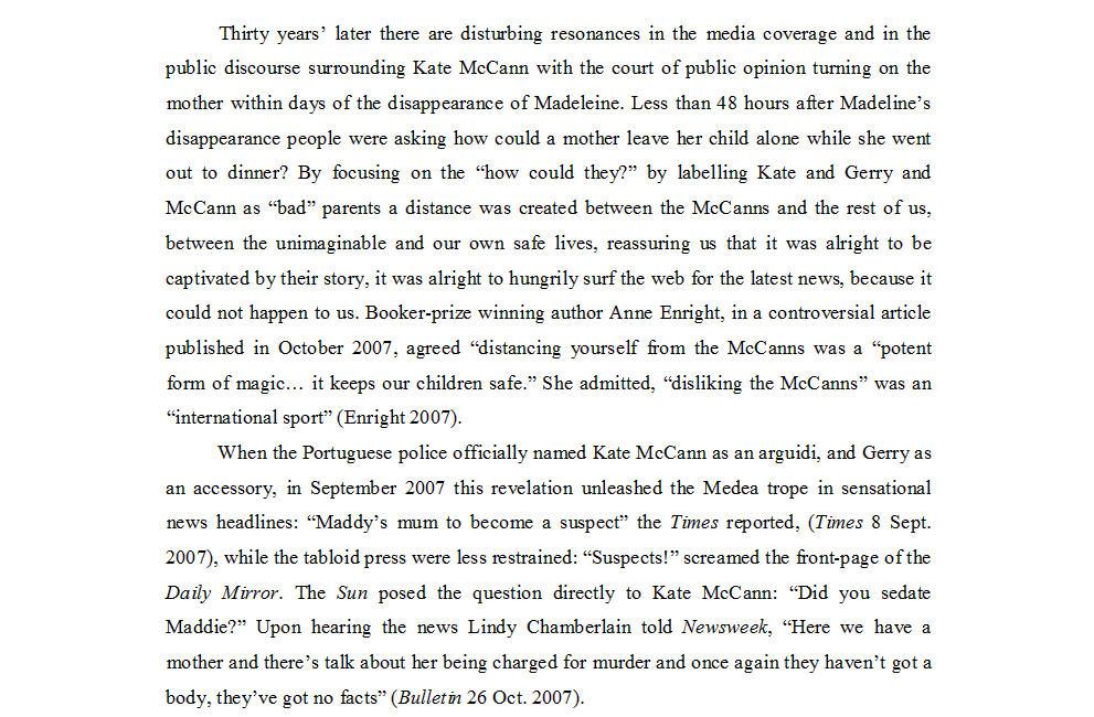 "Dr Nicola Goc: ""Bad Mummy""-  Kate McCann, Medea and the Media 513"