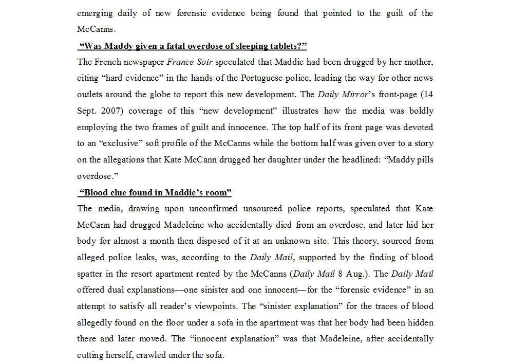 "Dr Nicola Goc: ""Bad Mummy""-  Kate McCann, Medea and the Media 910"