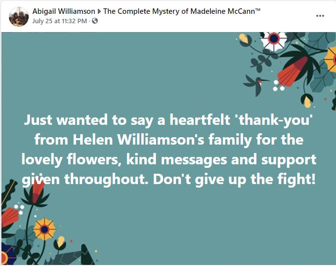 A tribute to Helen Williamson (Hentie) Abigai10