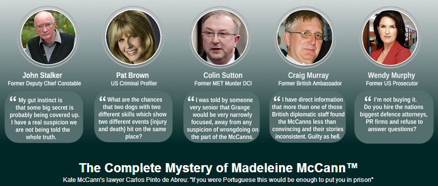 The Complete Mystery of Madeleine McCann™ Banner10