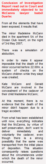 Mick Hume:  The increasingly strange case of Madeleine McCann Conclu11