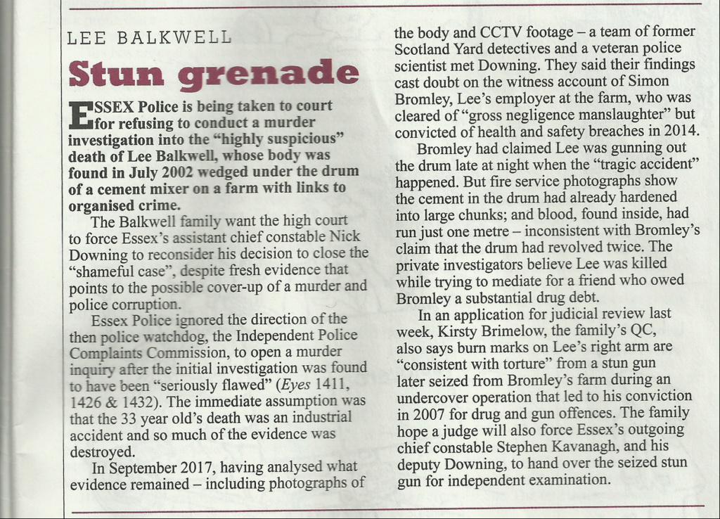 Private Eye:  Lee Balkwell - Stun Grenade Lee_ba10