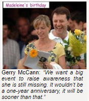 The McCanns openly admitted that they did not physically search for Madeleine. Mbmbda10