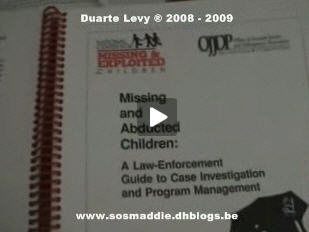"Hobs:  Quote from kate mcCann, from the Jon Corner interview of August 2007. ""There's not a textbook about it is there, ""What to do when your daughter gets abducted'...?"" Missin10"
