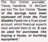 MADDIE CASH ROW Latest Madeleine McCann search fund boost could be £150,000 of taxpayers' cash and is being kept secret Sunonl10