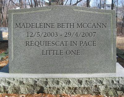 Madeleine McCann - 13th Anniversary of her disappearance, but when did this really happen?  Tombst10