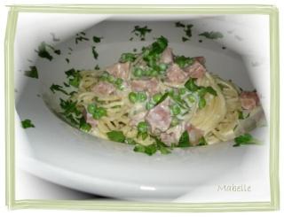 Fettucine carbonnara au jambon 09510