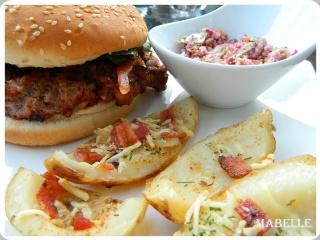 Burgers à la chair de toulouse et au brie fondant Burger14