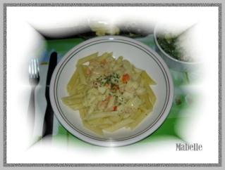 Pennes aux fruits de mer sauce safranée au vin blanc Dsc02315