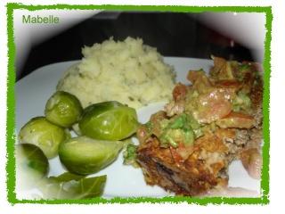 Pain de viande au gruau et sa bruschetta de tomates Dsc02616
