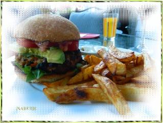 Hamburger au poulet, mayo aux poivrons rôtis Dscn0626