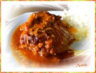 Hauts de cuisses de poulet, sauce crémeuse au beurre d'arachides Dscn0810