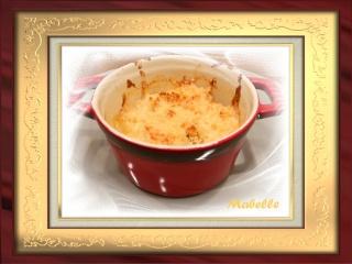 Pétoncles gratinés, poireaux à la crème et crumble d'amande et de fromage Dscn2223