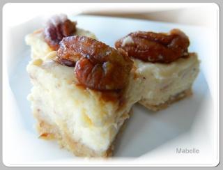 Carré au fromage à la crème, pacanes et érable Dscn2311