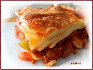 Lasagne traditionnelle sauce à la viande, tomates et béchamel Dscn2312