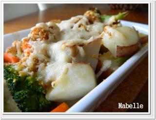Gratin de légumes et jambon Gratin12