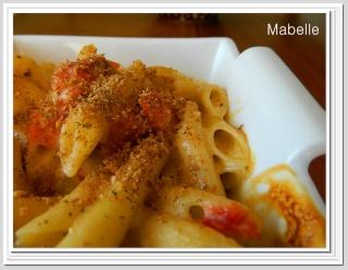 Macaronis au fromage et tomates gratinés Macaro10