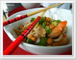 Pad Thaï au poulet et crevettes Pad_th10