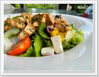 Salade de poulet à la grecque Salade10