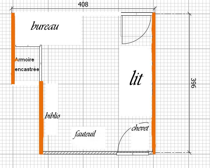 Une chambre d'adolescente jaune ou orange 12011310