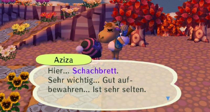 Ich habe von Aziza einen/eine ... erhalten. Alpeng10