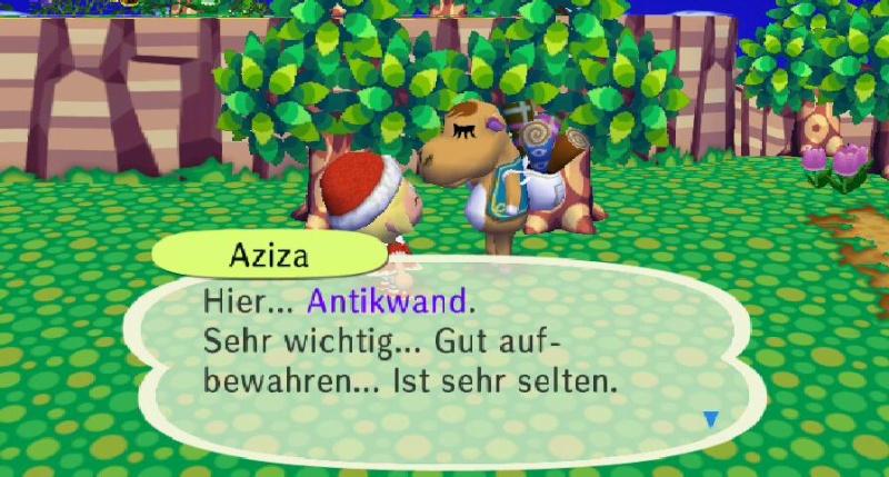 Ich habe von Aziza einen/eine ... erhalten. Antikw10