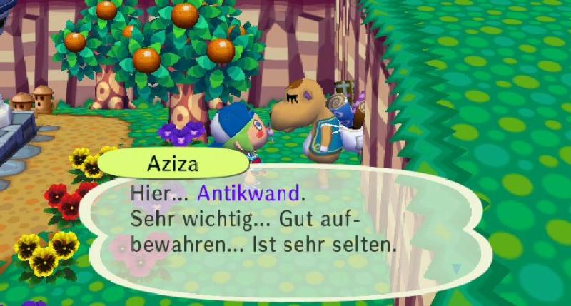 Ich habe von Aziza einen/eine ... erhalten. Antikw11
