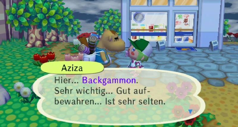 Ich habe von Aziza einen/eine ... erhalten. Aziza10