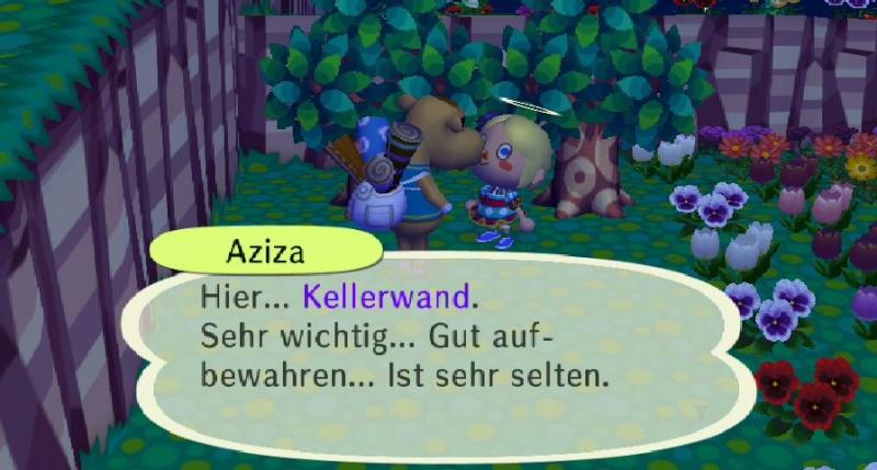 Ich habe von Aziza einen/eine ... erhalten. Keller10