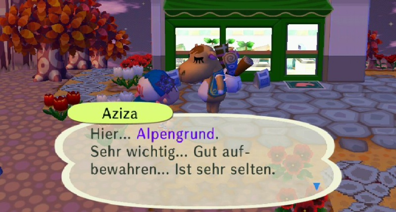 Ich habe von Aziza einen/eine ... erhalten. Schach10