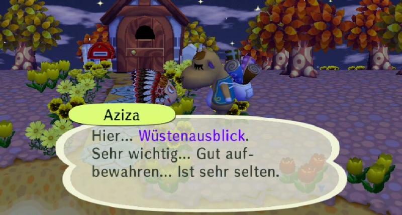 Ich habe von Aziza einen/eine ... erhalten. Wasten10