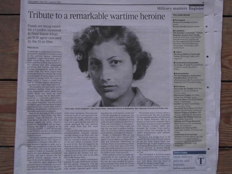 Noor Inayat Khan 'Madeleine' – Agent SOE 01610
