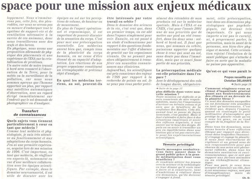 Claudie Haigneré - 1ère Française dans l'espace - Page 2 01011512