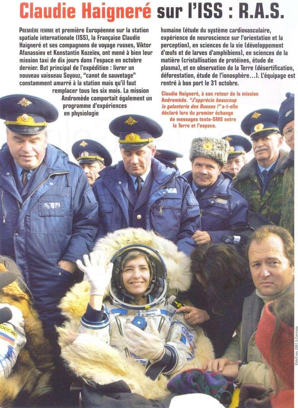 Claudie Haigneré - 1ère Française dans l'espace - Page 2 01120014