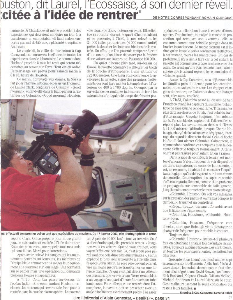 STS 107 - dernier vol de Columbia 03020611