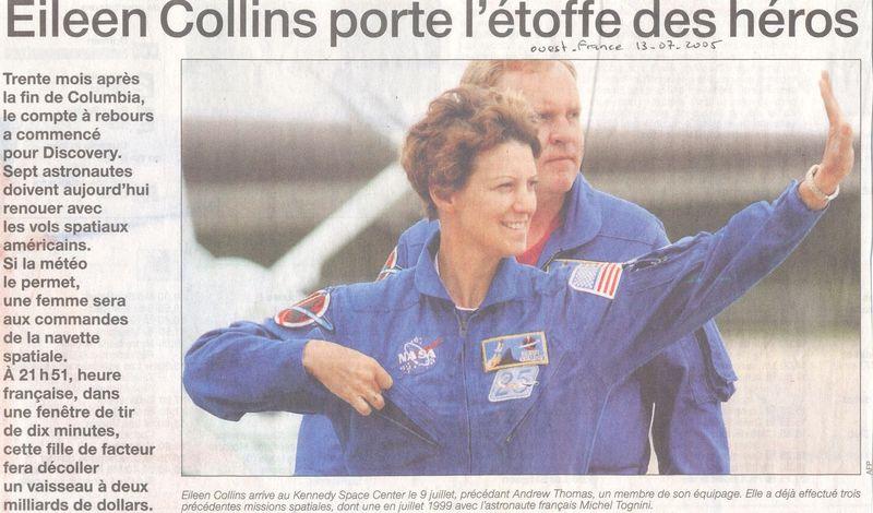 Eileen Collins - 1ère pilote et 1ère commandante de STS  05071310