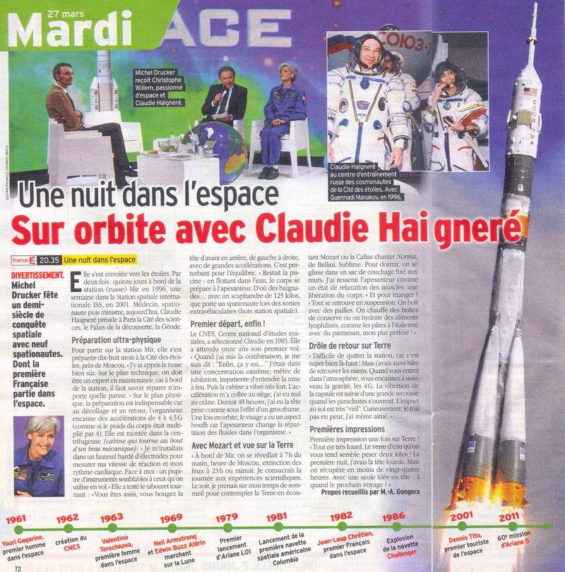 Presse: Une nuit dans l'espace-FR2 - 27-03-2012 12032410