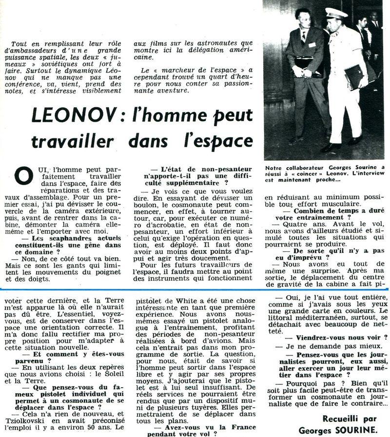 Leonov, le piéton de l'espace 65100110