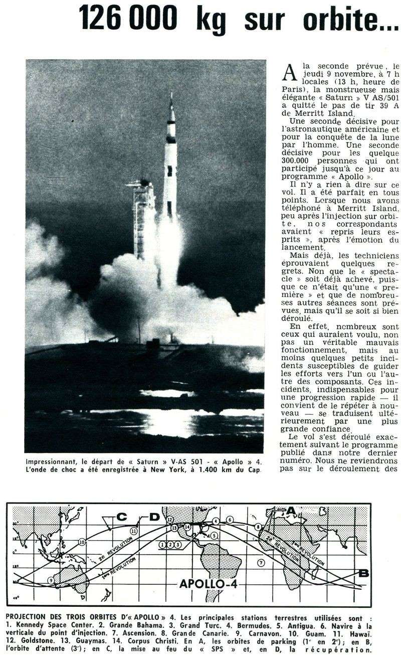 9 novembre 1967 - Apollo 4 - 1ère Saturn V 67120110