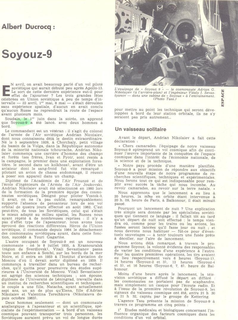 1er juin 1970 - Soyouz 9 70061310