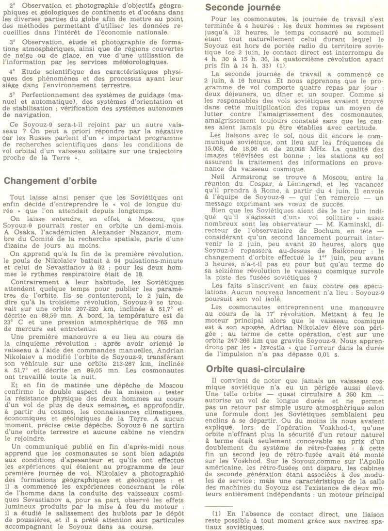 1er juin 1970 - Soyouz 9 70061311