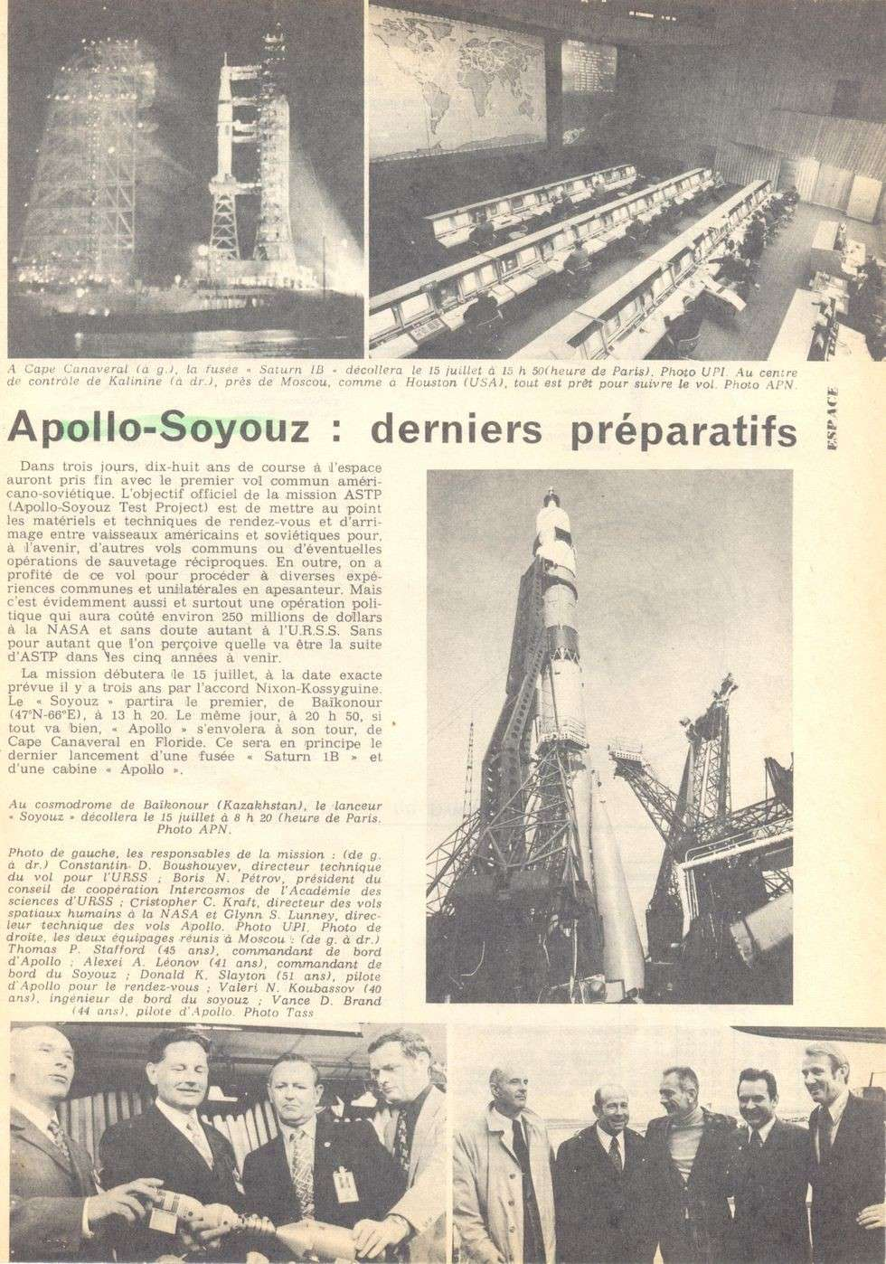 15 juillet 1975 - Mission Apollo - Soyouz 75071210