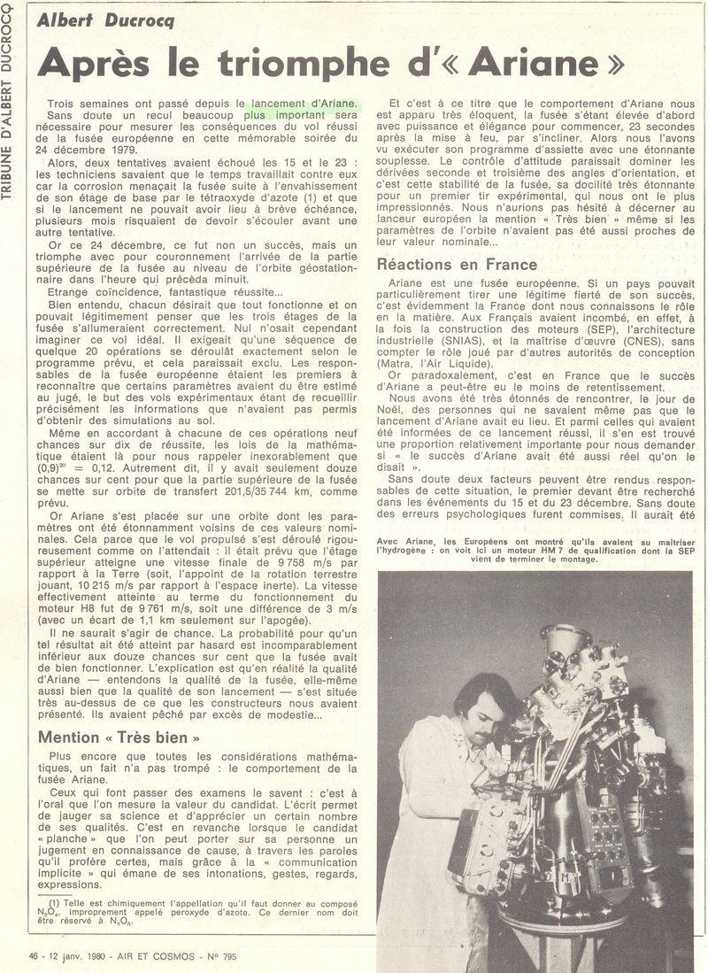 24 décembre 1979 - Début de l'ère d'Ariane 80011210